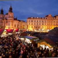 Christmas Decorations: Old Town Square