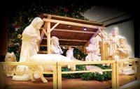 Nativity scene - life-size - height of statues 60 - 200 cm (9 pcs)